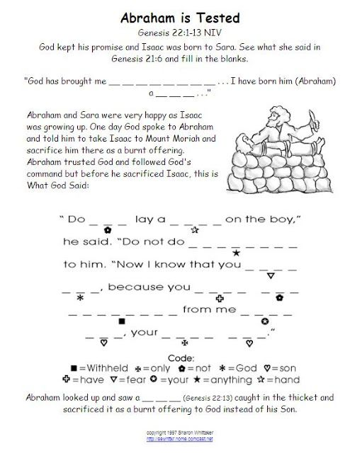 Bible Worksheet Abraham Isaac Sacrifice Church Pinterest Abraham Promised Son Worksheet Bible Worksheet Abraham Isaac Sacrifice
