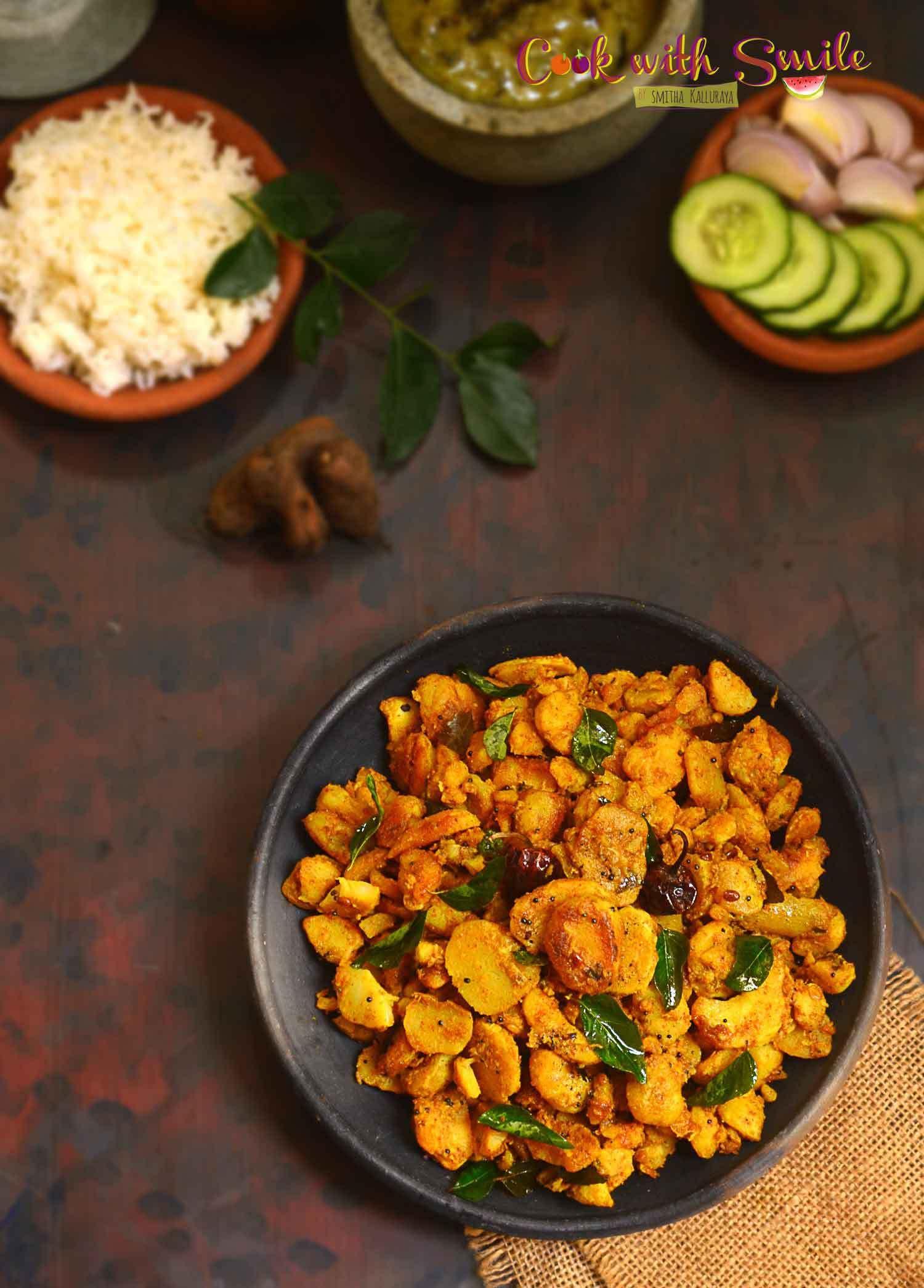 Chinese potato indian stir fry recipe / sambrani gadde