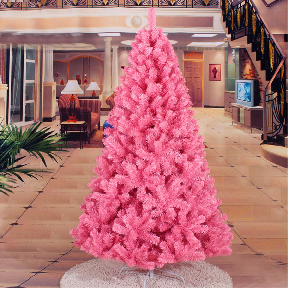 2ft 3ft 4ft 5ft Pink Artificial Christmas Tree DIY ...