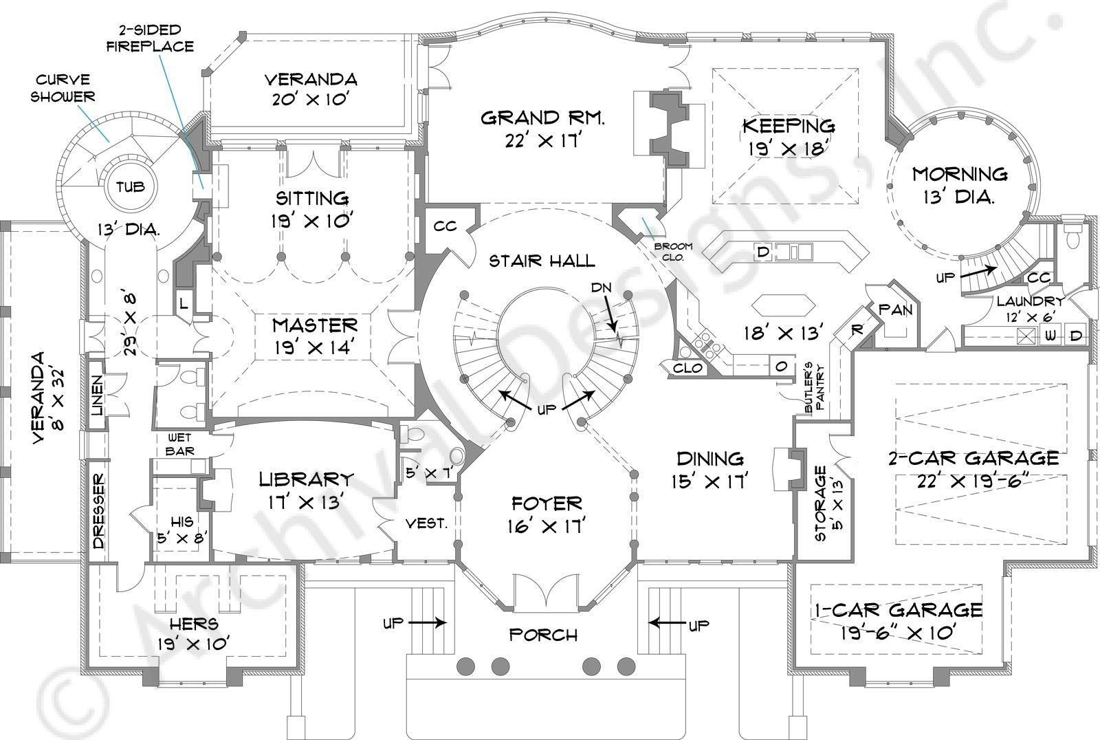 Park Place House Plan House Blueprints House Plans Luxury