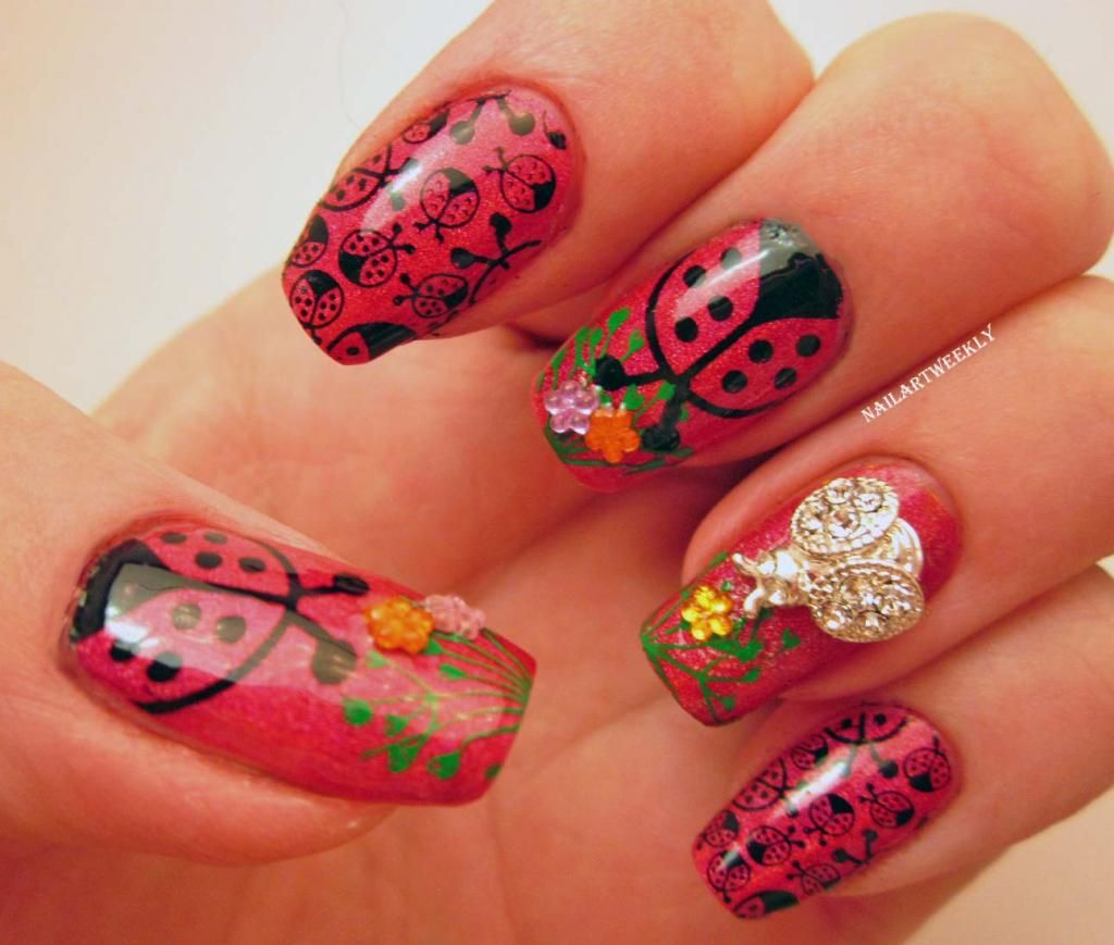 Nail Art Weekly Ladybugs Skittlette Nail Art Designick Visit