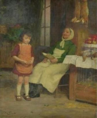 """Recitation"". Victor Gabriel Gilbert (French 1847 - 1933)"