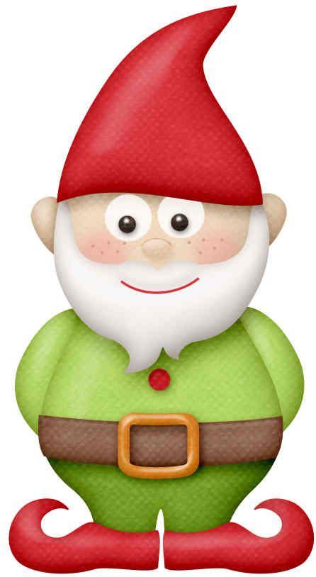 Gnome Clip Art: Niños Haciendo Jardinería