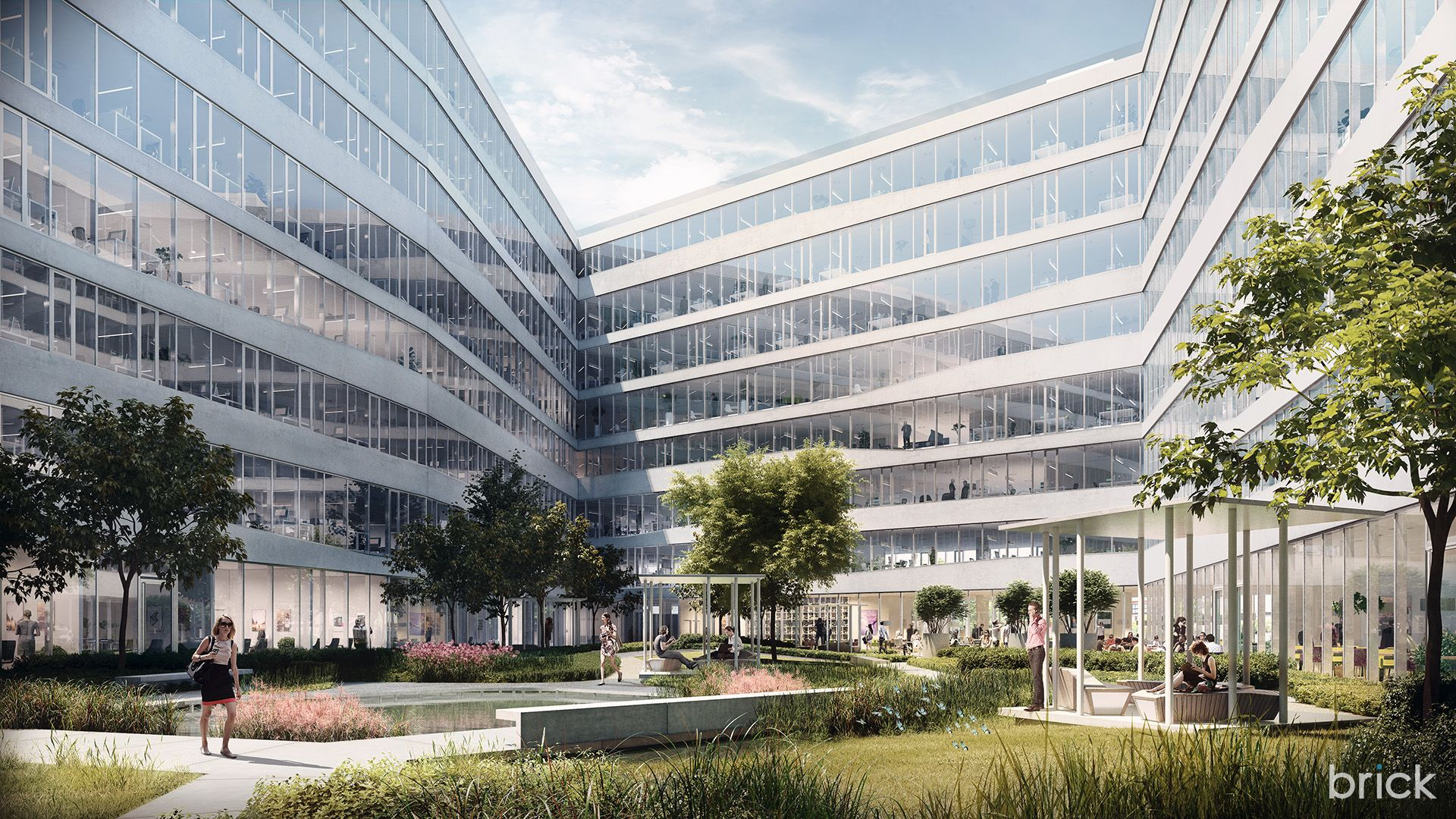 Architectural Visualization of the Telekom Budapest HQ | image ...