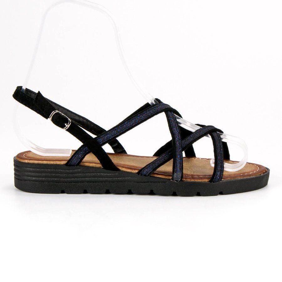 Sandaly Damskie Comer Czarne Wygodne Sandaly Damskie Comer Gladiator Sandals Shoes Sandals