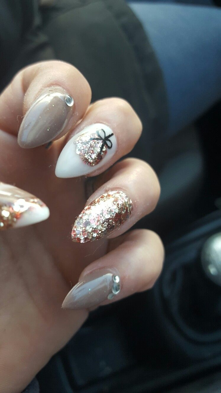 Pin On My Nails Sparkle Points Square All Sorts