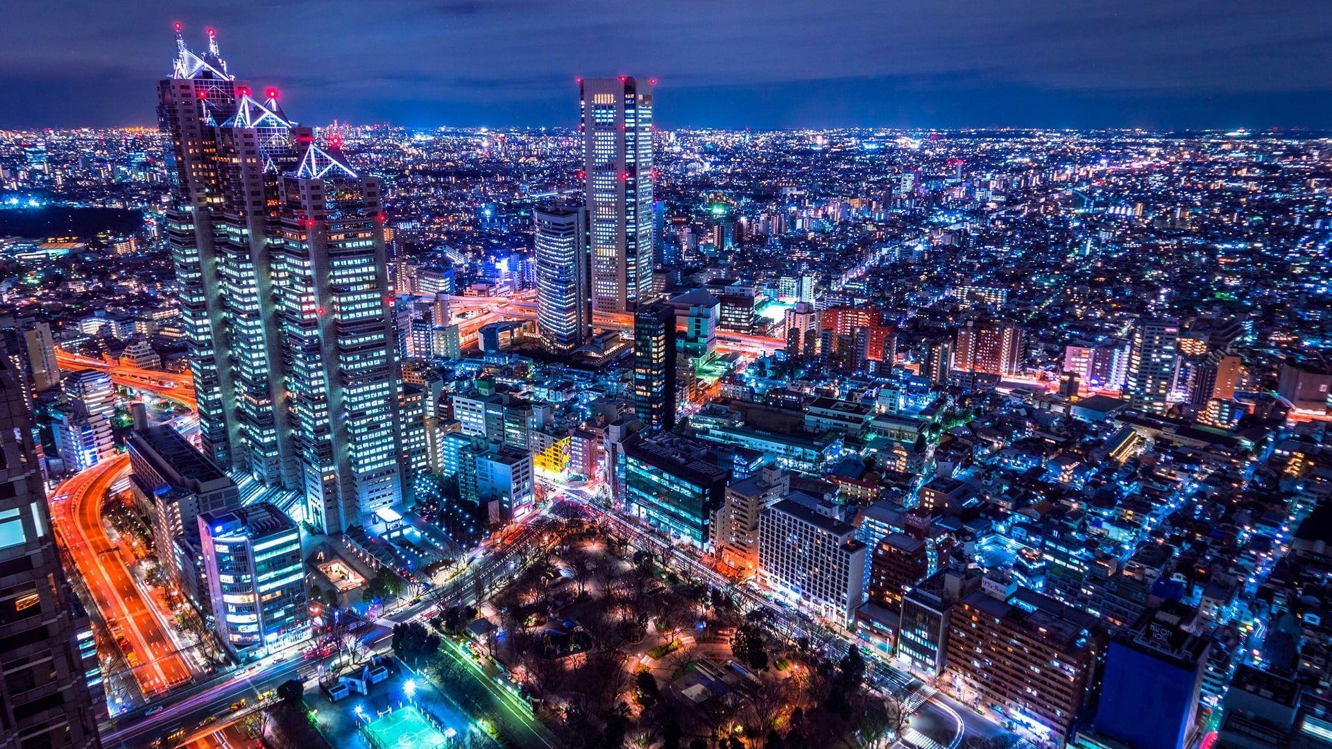 Shinjuku Park Tower Cityscape Shinjuku Japan Metropolis Asia Skyline Night Skyscraper Aerial Photography To Macbook Air Wallpaper Cityscape Metropolis Hd wallpaper city night snow aerial