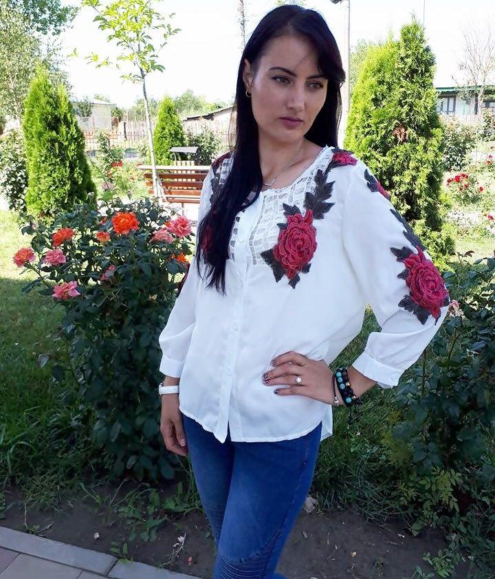 OOTD: Camasa cu trandafiri brodati de la Newchic