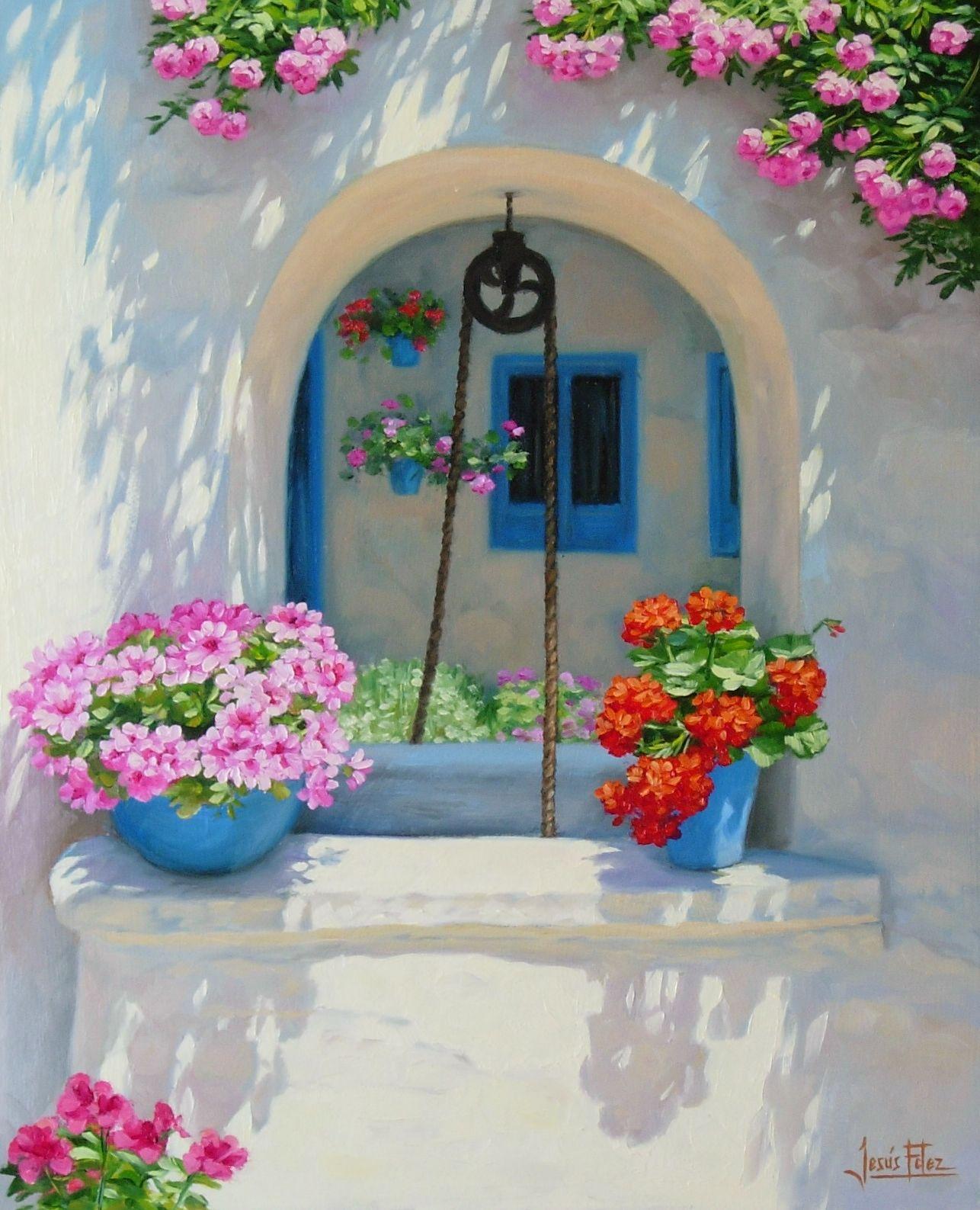 Jesús Fernández Romero Pintura Acrilica Cuadros Pintura Al Oleo Paisajes Pinturas Florales