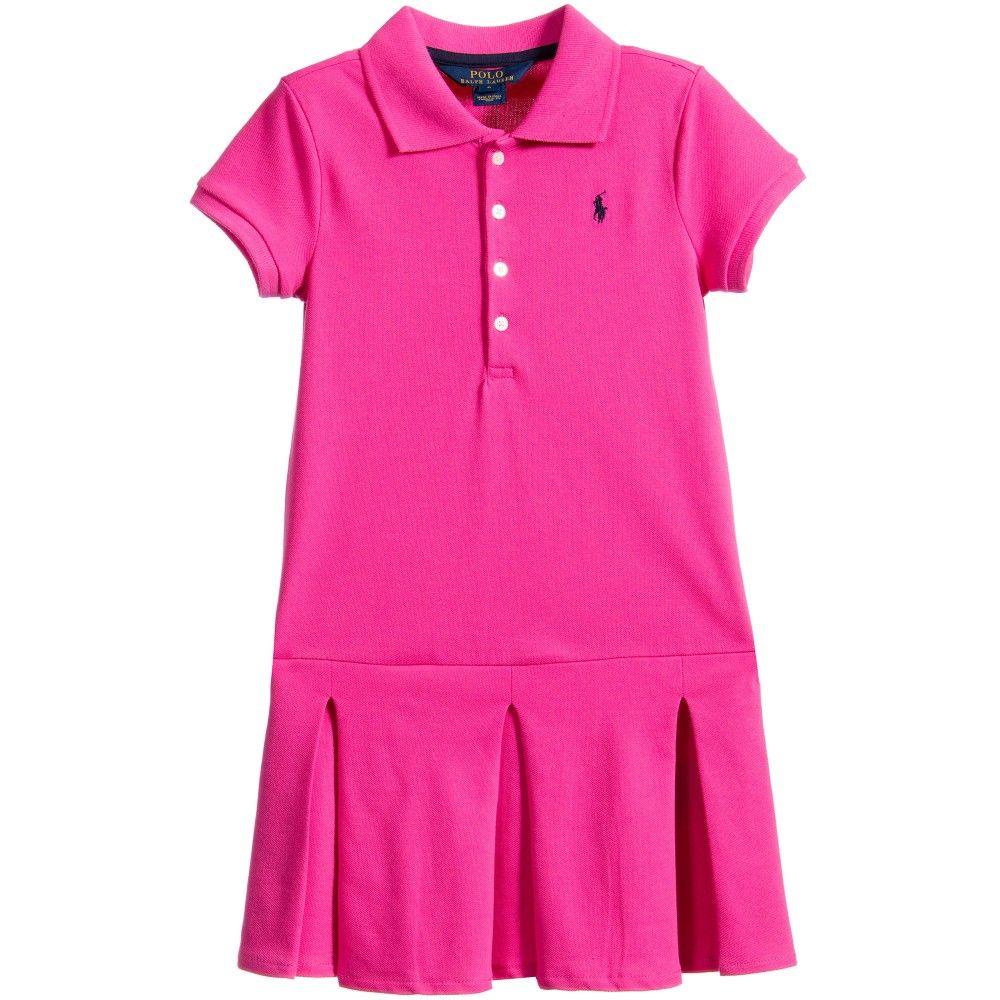 Bright Polo Piqué Pink Cotton LaurenGirlAgatha DressRalph wkiulZXTOP
