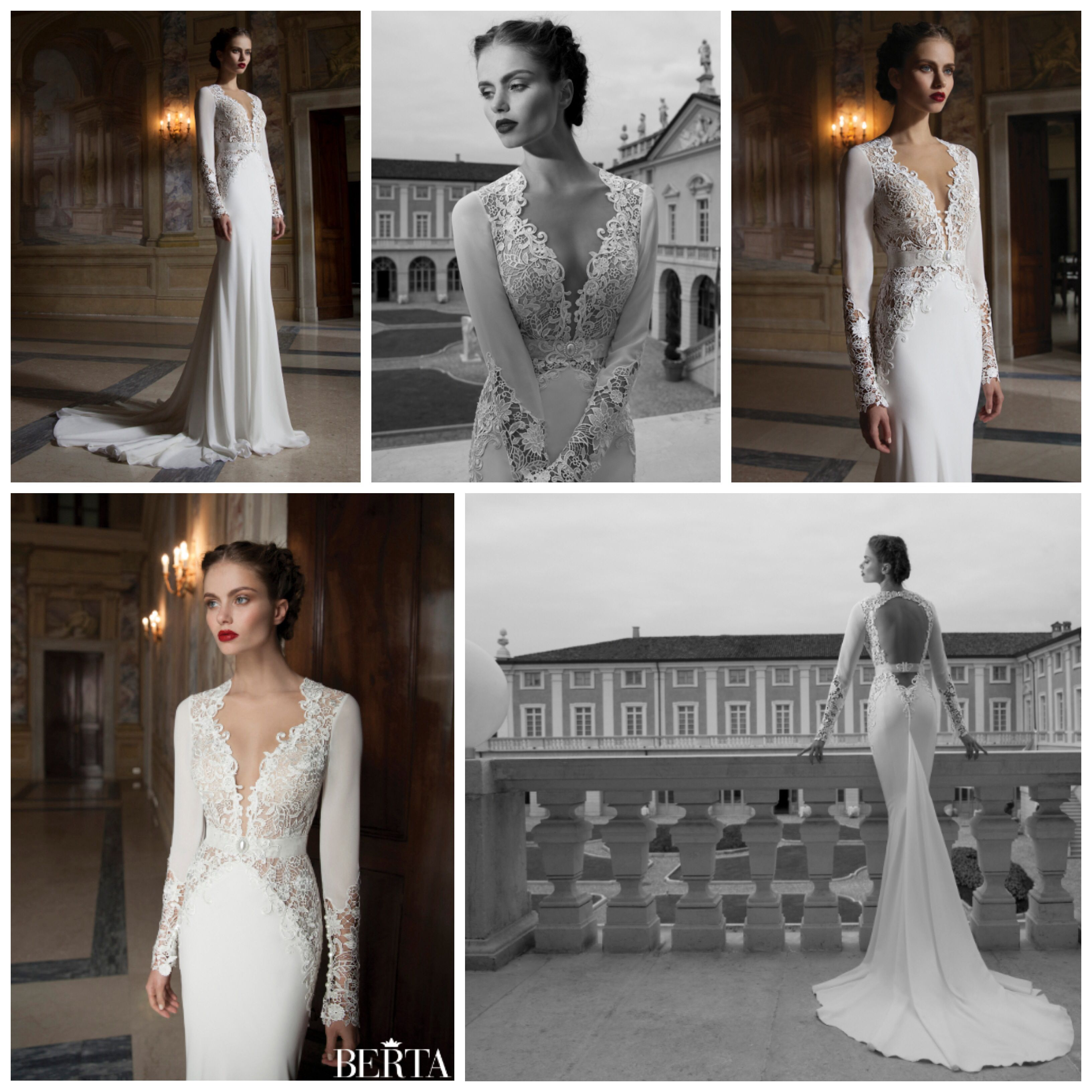 Berta bridal collection this dressus features long sleeves