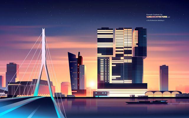 建築人的12張桌布︱世界高層建築設計   Foot Work︱ 走思客設計圖誌