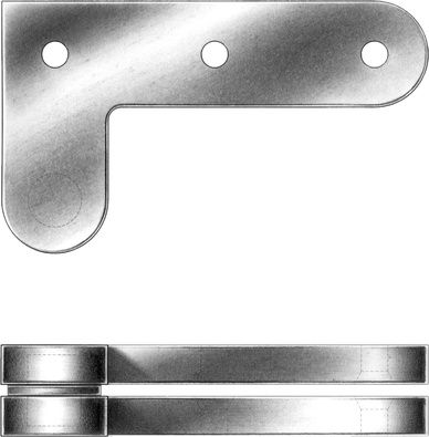 Radius Offset Pivot Hinges E R Butler Co Hinges Metal Fabrication Custom Plates