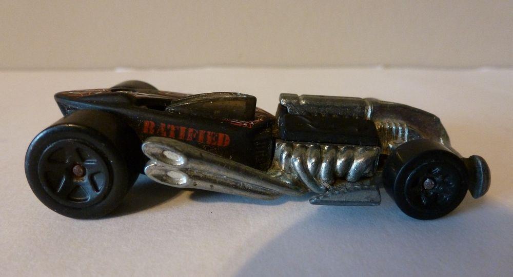 Vintage Ratified HOT WHEELS Hot Rod Toy Car Black Red White #HotWheels
