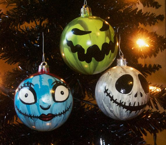Nightmare Before Christmas Inspired Jack Sally Oogie Hand-painted - the nightmare before christmas decorations