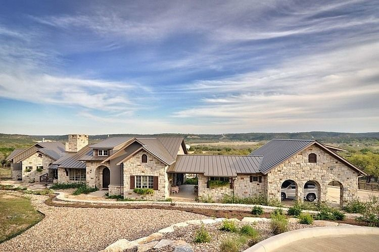 Country Farm Home Exterior hill country vernacular architecture near texas | texas hill