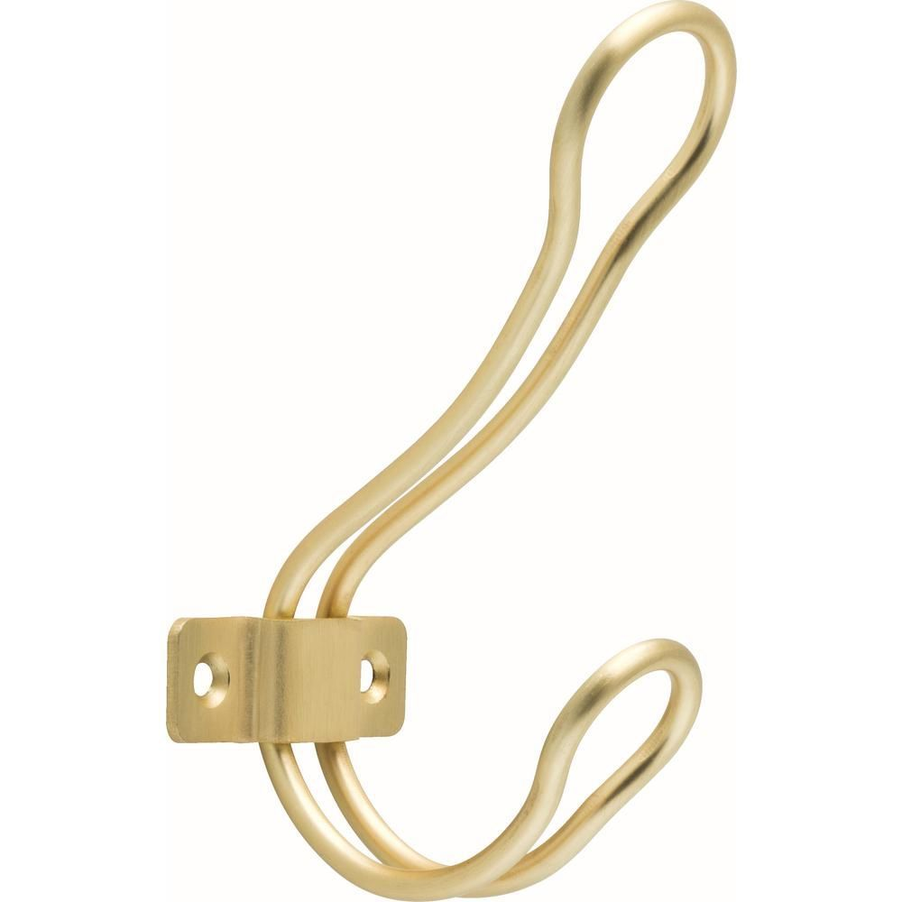 Liberty 4 1 2 In Brushed Brass Rustic Wire Coat Hook Brass Coat Hooks Coat Hooks Brushed Brass
