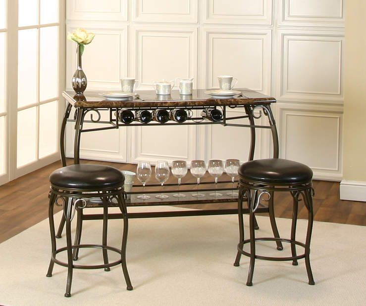 3 Piece Counter Height Marque Bar Set With Images Built In