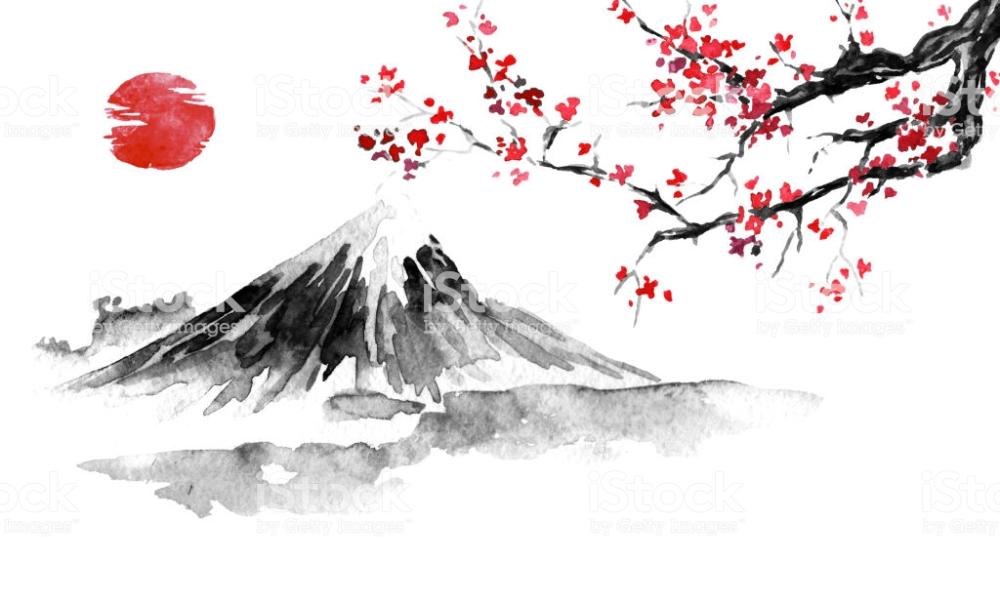 Paysage Japonais Dessin