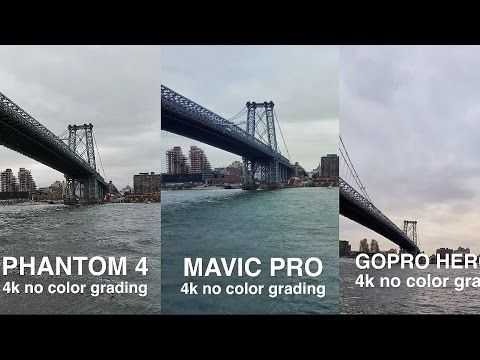 DJi MAVIC Vs PHANTOM 4 GOPRO KARMA Side By Comparison In 4k