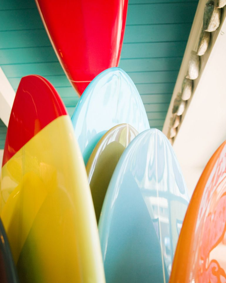 Surfboards - they almost look like candy. haha | Image of Surfboards-2, 24x28 (FRAMED PRINT) by JP Greenwood