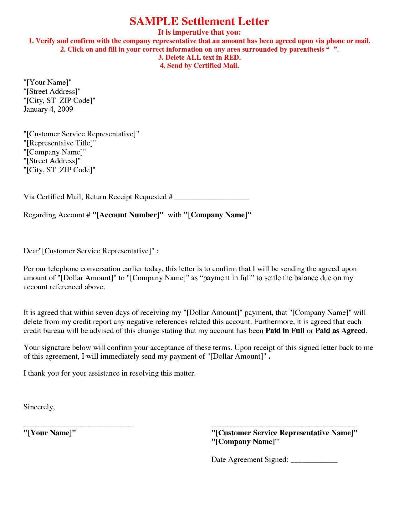 Final Settlement Letter Sample The Best Settlement In Word Pertaining To Full And Final Settlement Offer Letter Lettering Credit Repair Letters Debt Settlement