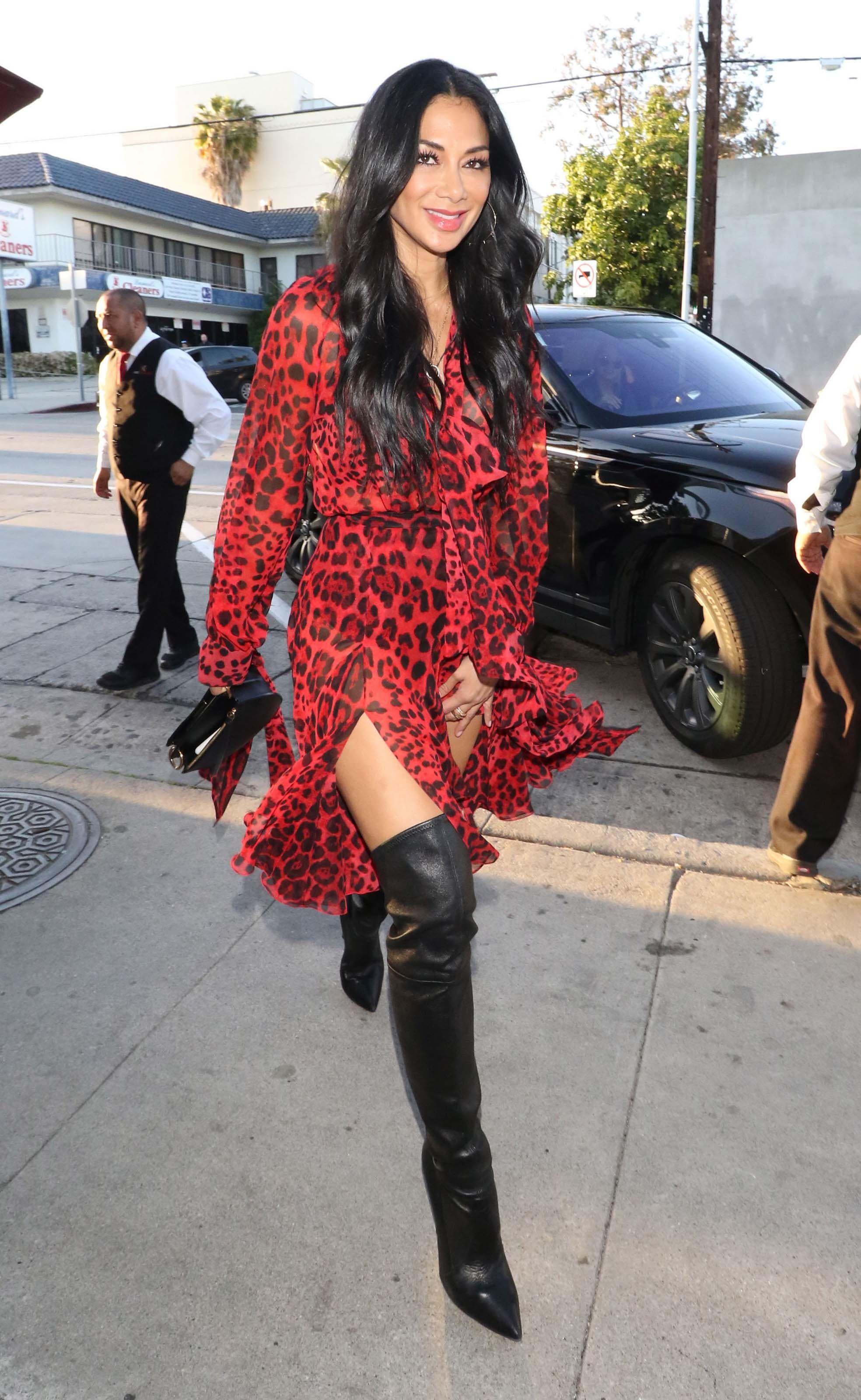 Photo of Nicole Scherzinger is seen outside Craig's Restaurant