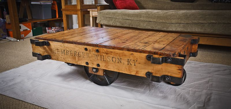Brilliant Diy Furniture Cart Coffee Table If Only I Could Find An Old Inzonedesignstudio Interior Chair Design Inzonedesignstudiocom