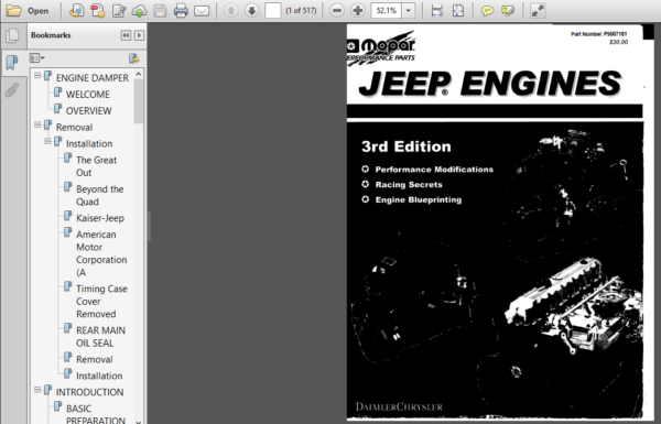 Jeep Engines Performance Manual Blueprinting Racing Secrets Download Jeep American Motors Corporation Manual