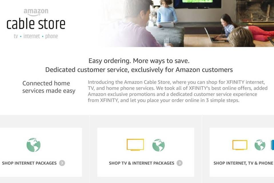 Comcast To Sell Cable Internet Service Through Amazon Comcast Xfinity Internet Phone Phone Service