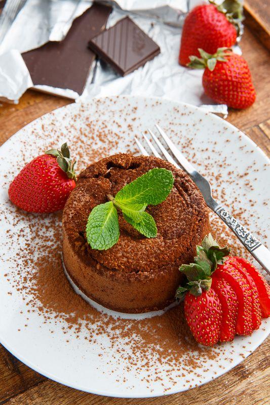 Dark Chocolate Lava Cakes