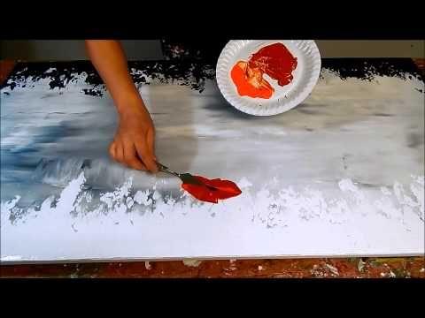 Lerne Ein Abstraktes Gemalde Mit Einem Messer Zu Malen Porcelain