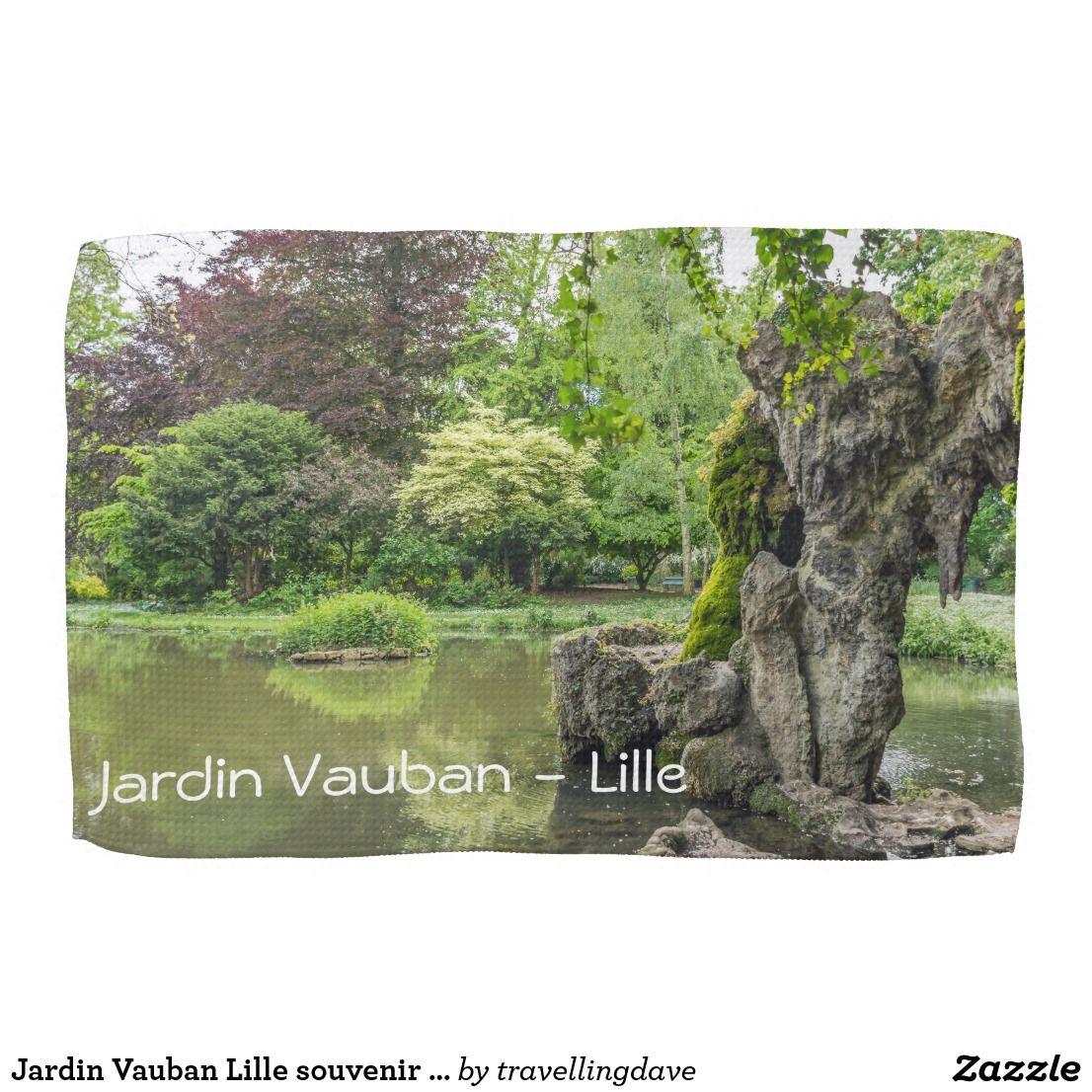Jardin Vauban Lille Souvenir Kitchen Towel Zazzle Co Uk Tea