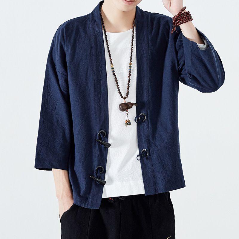 dc7b204c088f2c Men Kimono Cardigan Noragi Jacket in 2019 | Dazzle Attire | Men's ...