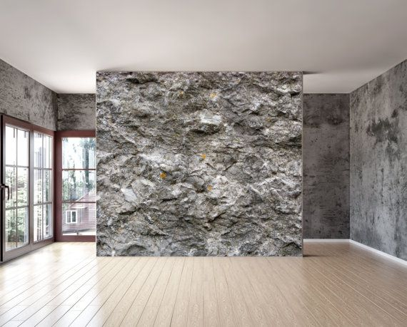 Rock stone texture wall mural repositionable peel and stick material with adhesive back wall
