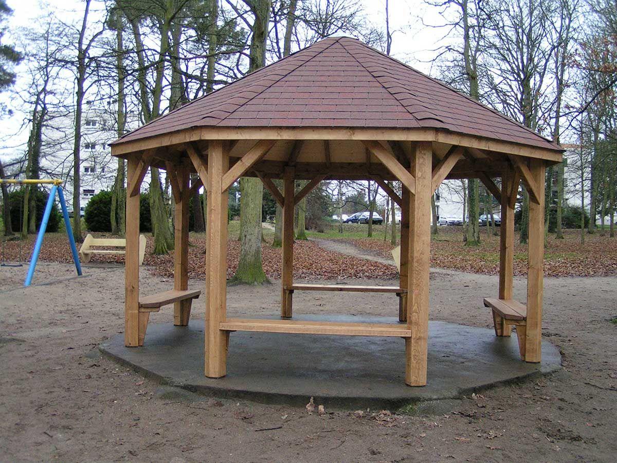 Kiosque En Bois Hexagonal coraloisirs - produits - fabricant de constructions en bois