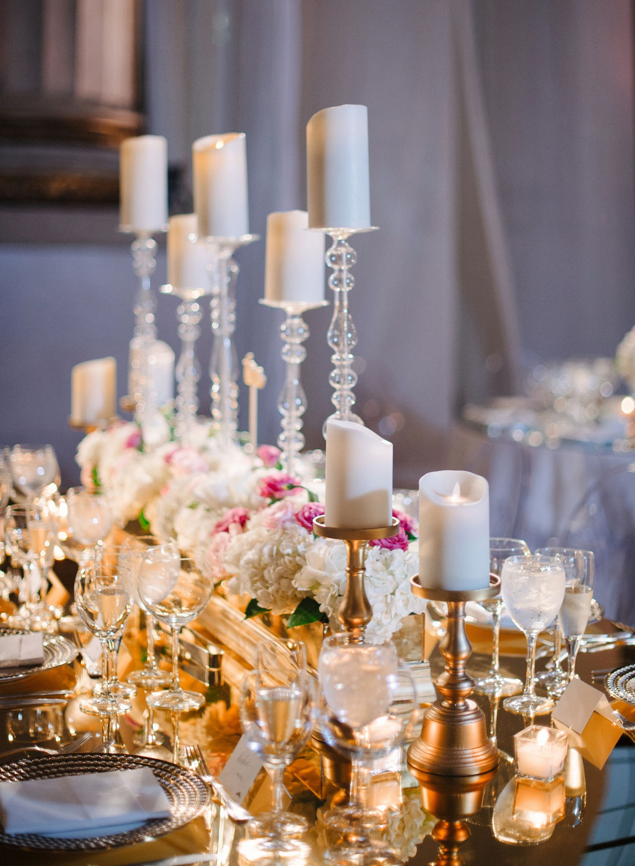 Tall Votive Candle Centerpieces With Images Candle