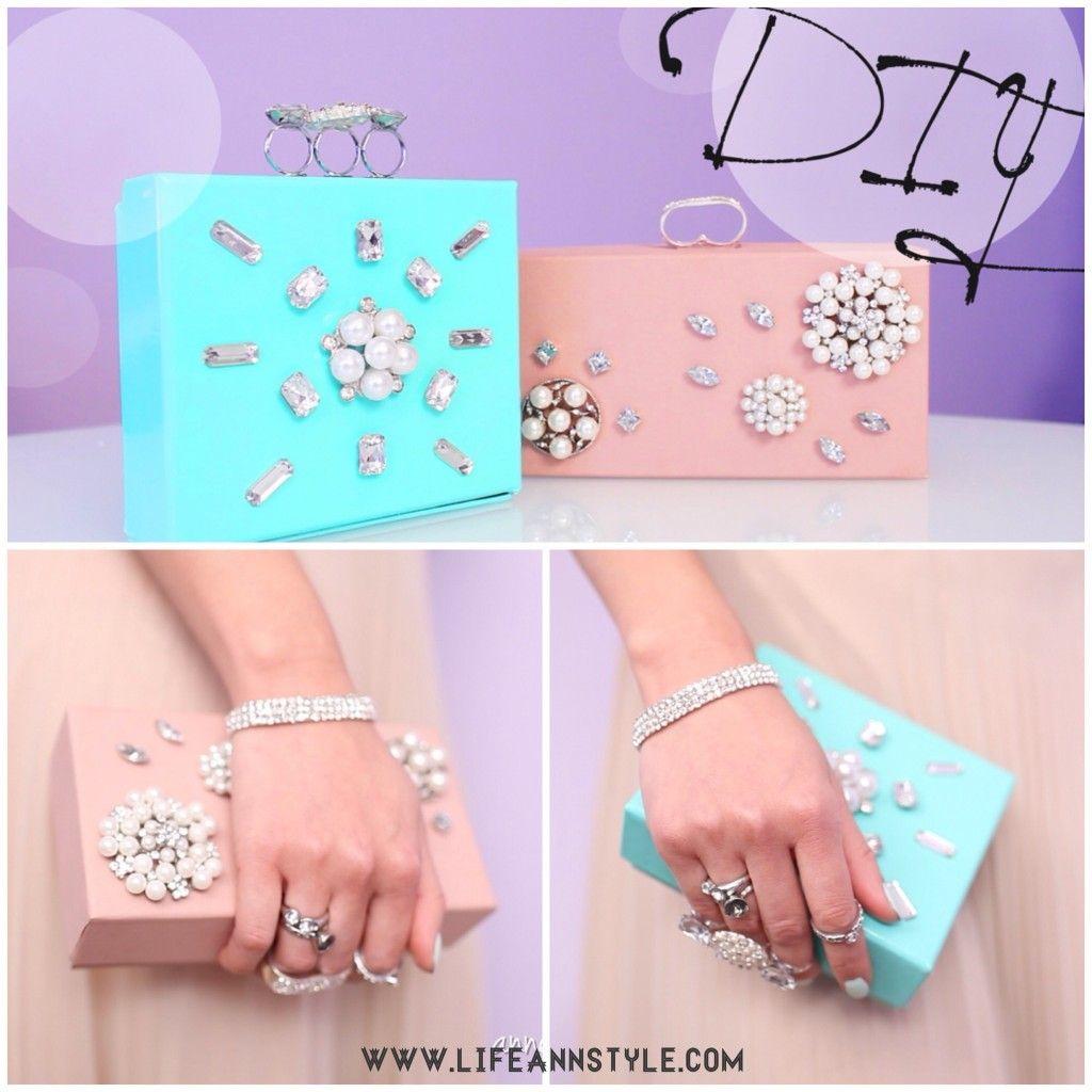 DIY Box Clutch Turn cardboard boxes into cute jewelry box clutch