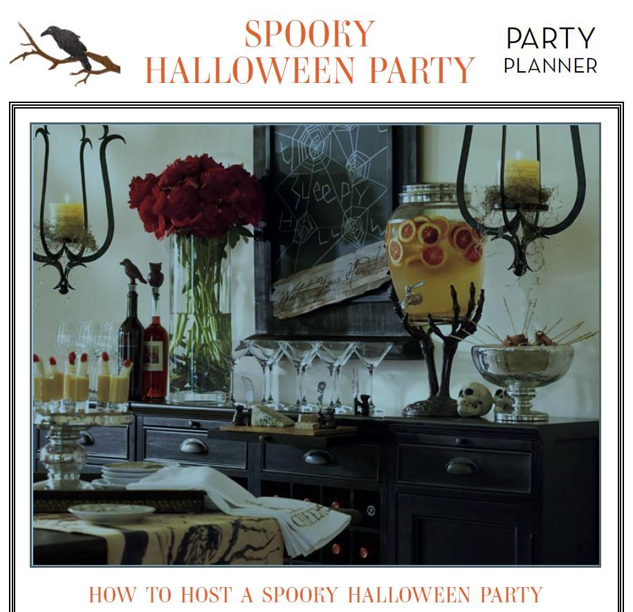 How to Host a Spooky Halloween Party via Pottery Barn