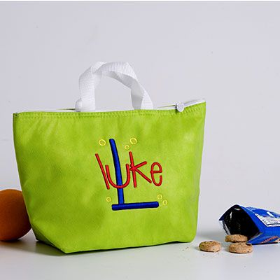 14 Modern Monogram Ideas: Lunch Bags < Decorate with Monograms - Southern Living