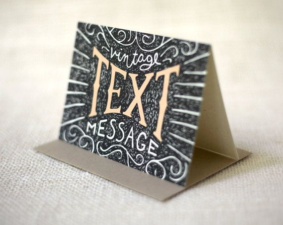 Boxed Card Set Of 8 Vintage Text Message Boxed Note Cards Vintage Text Notecard Set