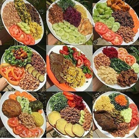 Opções saudáveis de refeições.🔝😍 #almoçosaudavel #comidadeverdade #opcoesdealmoco #opcoesdejantar #reeducacaoalimentar #dietalowcarb #alimentacaofuncional