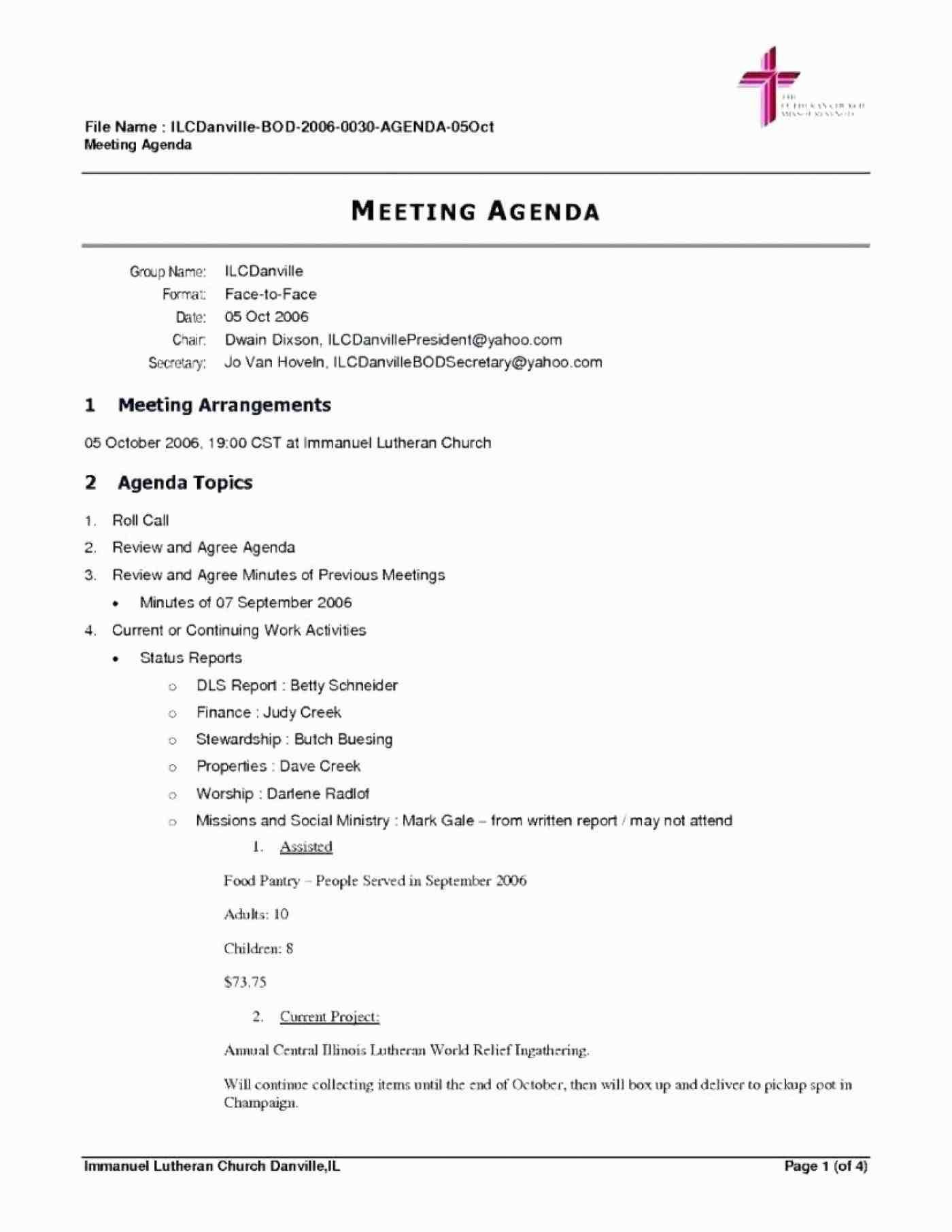 The Appealing Meeting Agenda Template Free Word Agendas Office