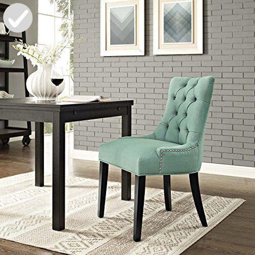 Modway Regent Fabric Dining Chair In Laguna