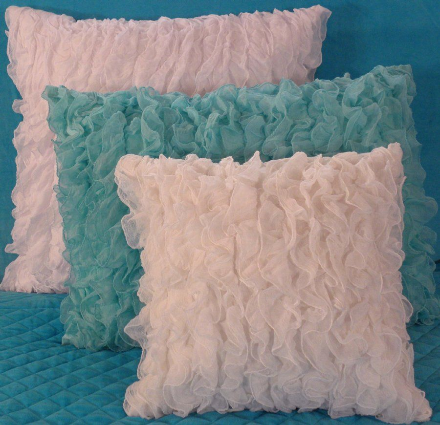 Image detail for -... Turquoise Chiffon Ruffle Bedding, Girls Bedding - Sweet and Sour Kids