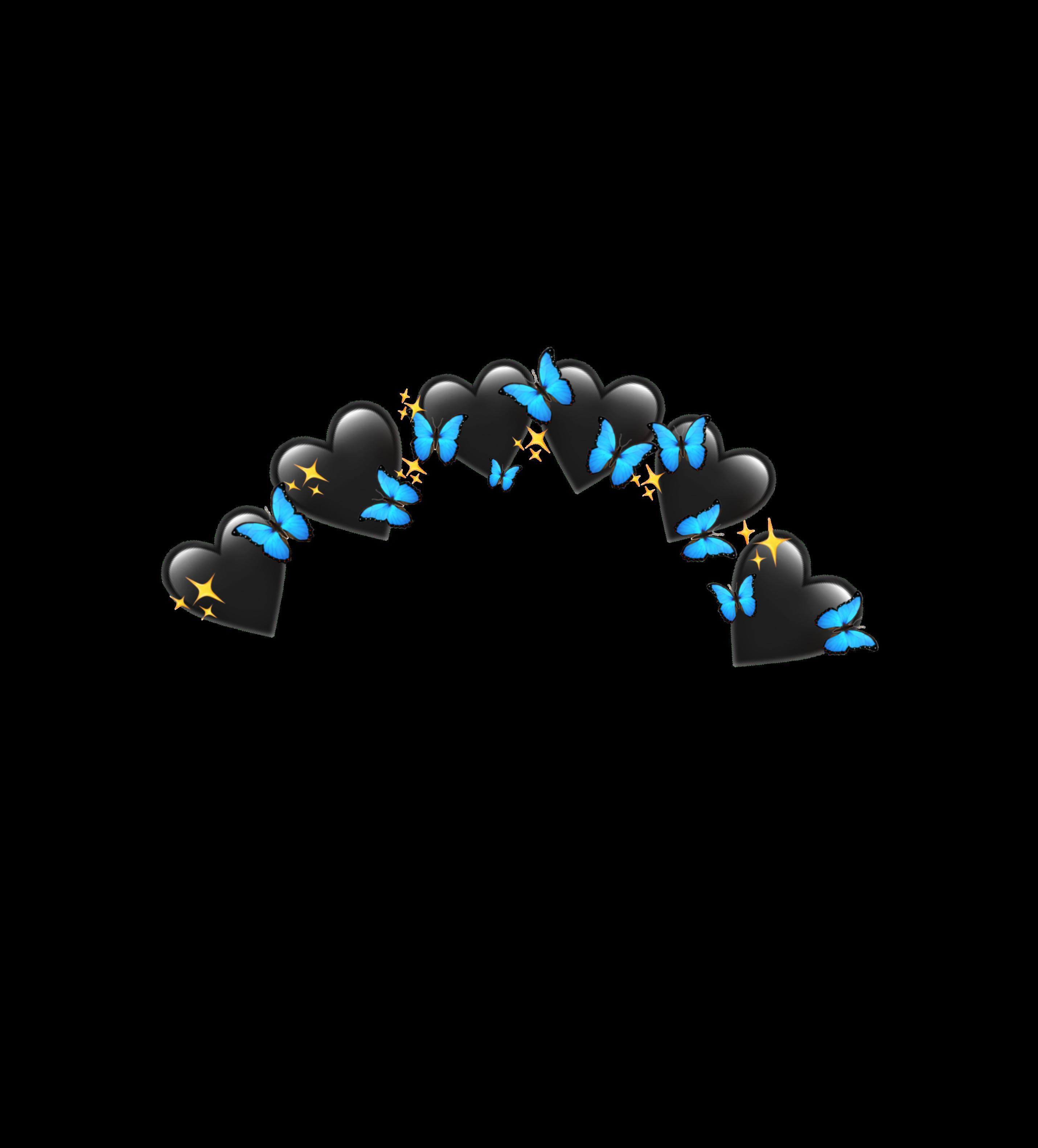 Butterfly Effect Crown Black Blue Crown Flower Emojis Emoji Butterfly Spark Sparkle Blue Music Flow In 2020 Emoji Stickers Image Stickers Butterfly Effect
