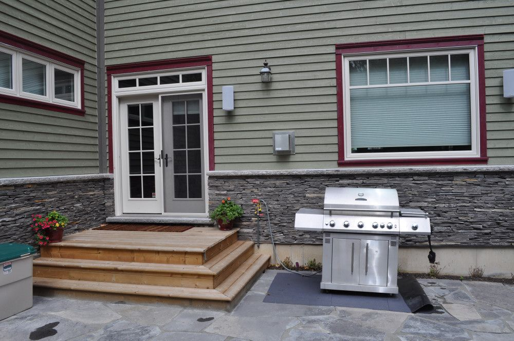 Back door deck | Large capacity natural gas barbecue with sk… | Flickr