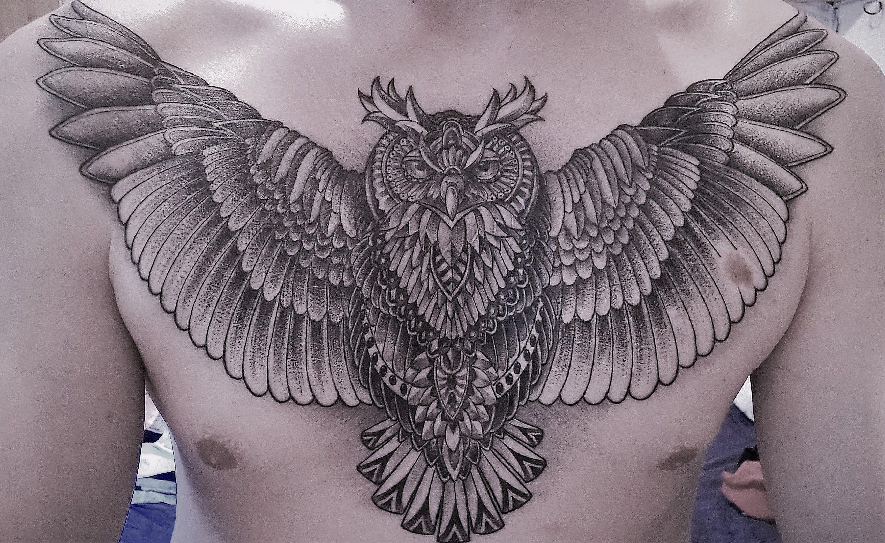 Pin Op Indian Owl Tattoo