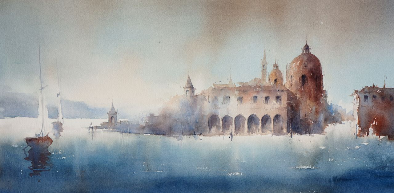 Janine Gallizia Aquarelle Peintures Art Abstrait Architecture