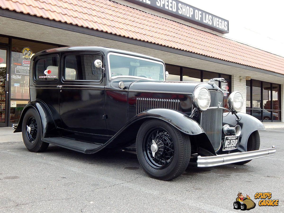 Spud s garage 1932 ford tudor sedan so cal las vegas rat rod tv car